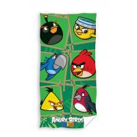 Osuška Angry Birds Rio Bamboo , Rozměr textilu - 70x140 , Barva - Zelená