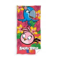 Osuška Angry Birds Rio , Barva - Ružová , Rozměr textilu - 70x140