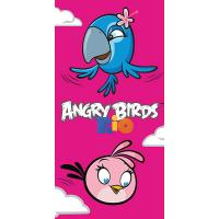 Osuška Angry Birds Rio Stella a Perla , Barva - Ružová , Rozměr textilu - 70x140