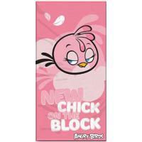 Osuška Angry Birds Stella , Barva - Ružová , Rozměr textilu - 70x140