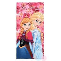 Osuška Anna - Elsa Frozen , Barva - Ružová , Rozměr textilu - 70x140