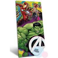 Osuška Avengers micro , Barva - Zelená , Velikost - 70x140cm