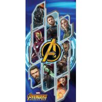 Osuška Avengers INFINITY WAR , Barva - Modrá , Velikost - 70x140cm