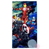 Osuška Avengers Marvel , Barva - Černo-modrá , Rozměr textilu - 75x150