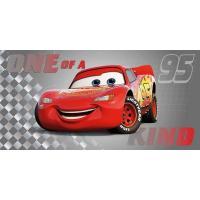 Osuška Cars Blesk McQueen , Barva - Šedo-červená , Rozměr textilu - 70x140