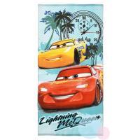 Osuška Cars Disney , Barva - Tyrkysová , Rozměr textilu - 70x140