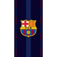 Osuška  FC Barcelona Racing , Barva - Tmavo modrá , Rozměr textilu - 70x140