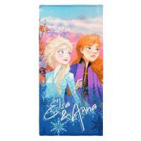 OSUŠKA FROZEN Elsa a Anna , Barva - Modrá , Rozměr textilu - 70x140