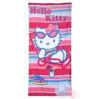 Osuška Hello Kitty , Barva - Ružová , Rozměr textilu - 70x140