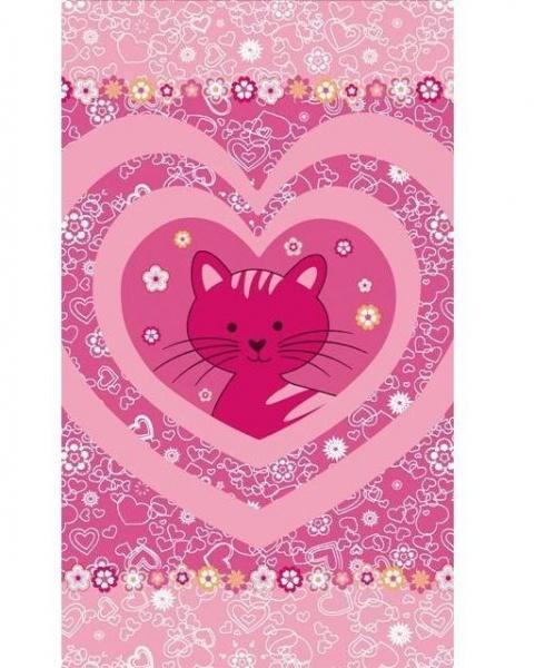 Tmavo ružová mačička