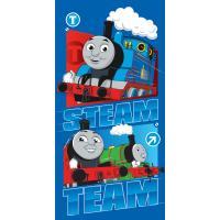 Osuška Vláčik Thomas Steam Team , Barva - Modrá , Rozměr textilu - 70x140
