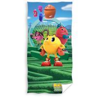 Osuška Pac-Man - Bludisko , Barva - Modro-zelená , Rozměr textilu - 70x140