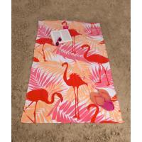 Osuška Plameniaky , Barva - Oranžová , Rozměr textilu - 90x170