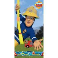 Osuška Požárník Sam , Barva - Modrá , Rozměr textilu - 70x140