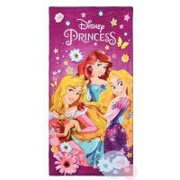 Osuška Princezné Disney , Barva - Lila , Rozměr textilu - 70x140