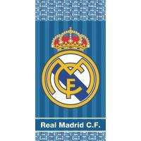 Osuška Real Madrid Blue Stripes , Barva - Modrá , Rozměr textilu - 70x140