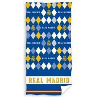 Osuška Real Madrid Rombo , Barva - Modrá , Rozměr textilu - 70x140