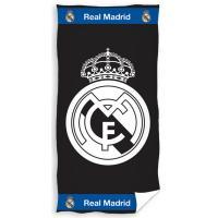 Osuška Real Madrid White Black , Barva - Čierna , Rozměr textilu - 86x160