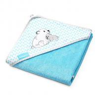 Osuška s kapucňou BabyOno , Barva - Modrá , Rozměr textilu - 75x75