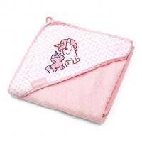 Osuška s kapucí BabyOno , Rozměr textilu - 75x75 , Barva - Ružová