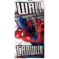 Osuška Spiderman , Barva - Šedo-červená , Rozměr textilu - 70x140
