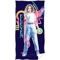 Osuška Stranger Things Eleven , Barva - Tmavo modrá , Rozměr textilu - 70x140