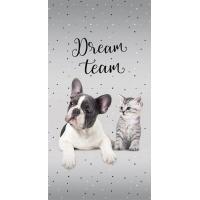 Osuška Sweet Animals Dream Team , Barva - Šedá , Rozměr textilu - 70x140