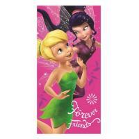 Osuška Cililing Friends , Barva - Tmavo ružová , Velikost - 70x140cm