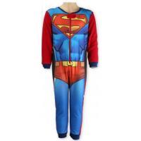 OVERAL FLEECOVÝ SUPERMAN , Velikost - 110 , Barva - Červená