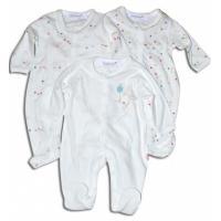 Overal dojčenský 3ks , Barva - Biela , Velikost - 50