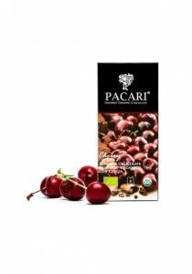 Pacari horká čokoláda s čerešňami BIO , Velikost balení - 50g