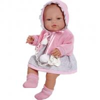 Bábika bábätko Berbesa Amanda 43cm , Barva - Ružová