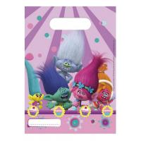Párty taška Trollové 6 ks , Barva - Svetlo fialová