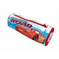 Penál Cars kulatý , Barva - Modro-červená