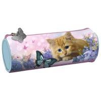 Penál kočka kulatý , Barva - Svetlo ružová