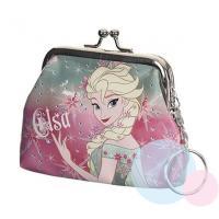 Peňaženka Frozen - Elsa , Barva - Malinová