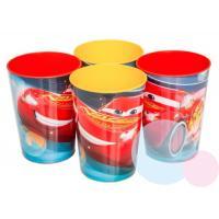 Plastové skleničky Cars 4ks , Barva - Červeno-žltá