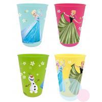 Plastové poháriky Frozen 4ks , Barva - Barevná