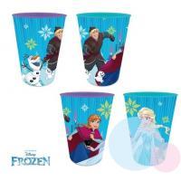 Plastové skleničky Frozen , Barva - Modrá