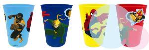 PLASTOVÉ poháre SPIDERMAN 4ks , Barva - Barevná