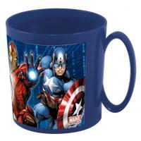 PLASTOVÝ HRNEK Avengers , Barva - Tmavo modrá , Velikost lahve - 350 ml