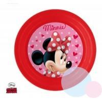 Plastový tanier Minnie , Barva - Červená