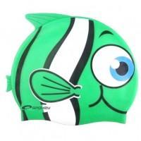 Plavecká čiapka Ryba , Barva - Zelená