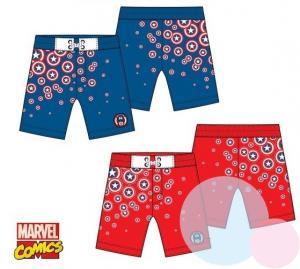 Plavky Kapitán Amerika , Velikost - 104 , Barva - Červená