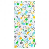 Plena New Baby Geometrické tvary , Barva - Bielo-zelená , Rozměr textilu - 68x80