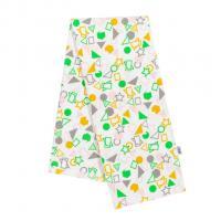 Plienka s potlačou New Baby flanel , Barva - Bielo-zelená