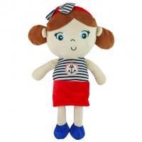 Plyšová panenka Baby Mix námořník , Barva - Červená