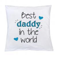 Polštář New Baby Best daddy , Rozměr textilu - 40x40 , Barva - Biela