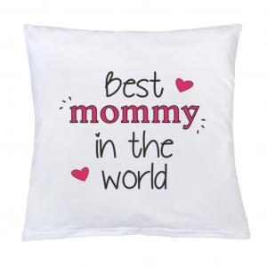 Vankúš New Baby Best mommy , Barva - Biela , Rozměr textilu - 40x40