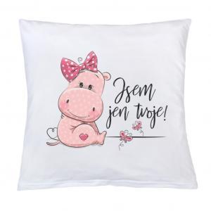 Vankúš New Baby s potlačou Som iba tvoja! , Rozměr textilu - 40x40